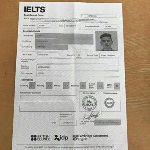 IELTS certificate for sale