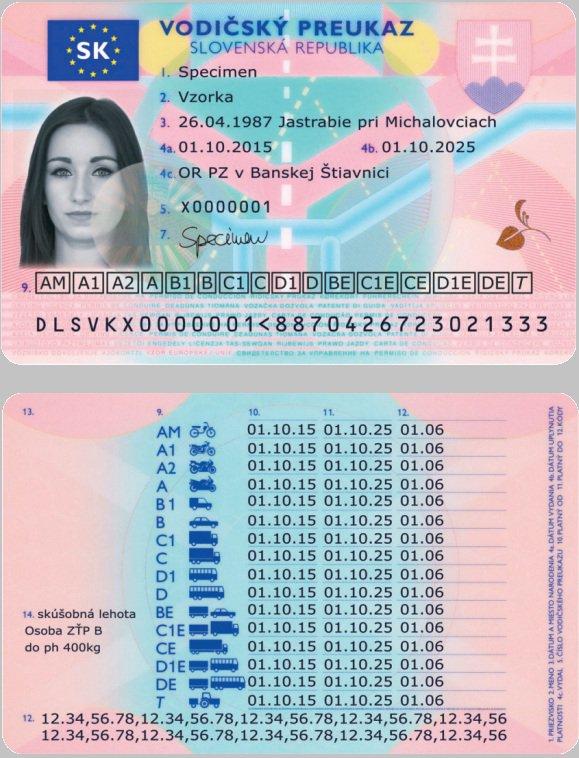 Buy Slovakian driver's license Na predaj slovenský vodičský preukaz Drivers license in Slovakia